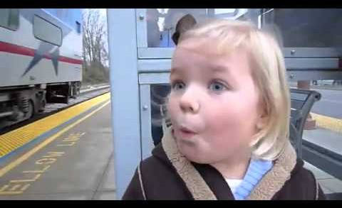 A Little Girl Sees a Train for the First Time