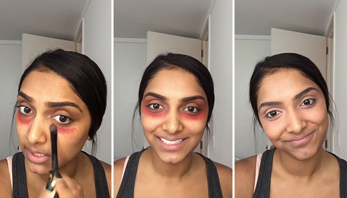 How to Mask Dark Under Eye Circles With Lipstick