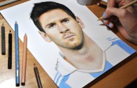 Drawing Lionel Messi – Incredible Timelapse