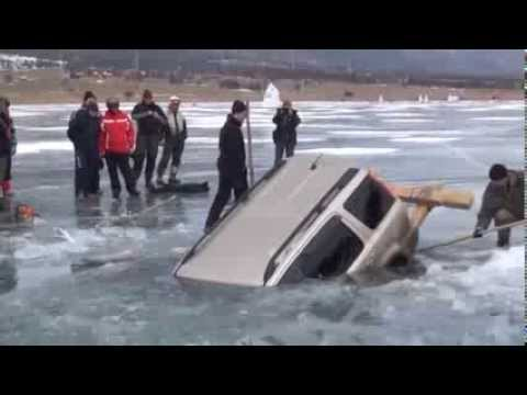 How to Pull Out Car from a Frozen Lake – Russian Style