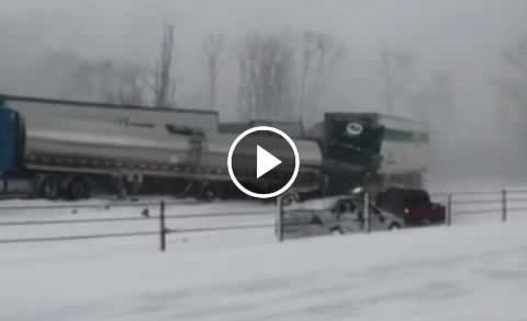 Nearly 200 Vehicle Pile-Up on Michigan Highway
