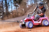 Barbie Jeep Cardboard Rodeo With The Nascar Driver