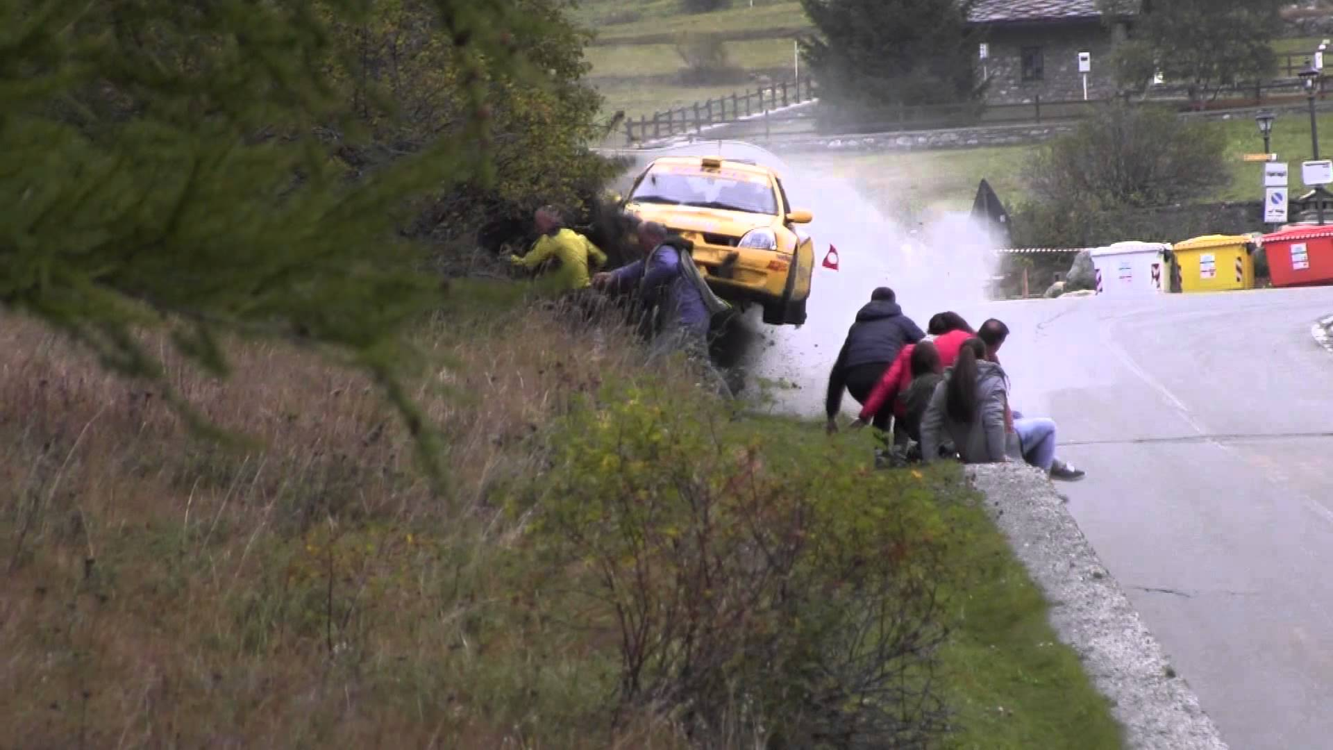 Terrifying Rally Car Crash Caught on Tape in Italy