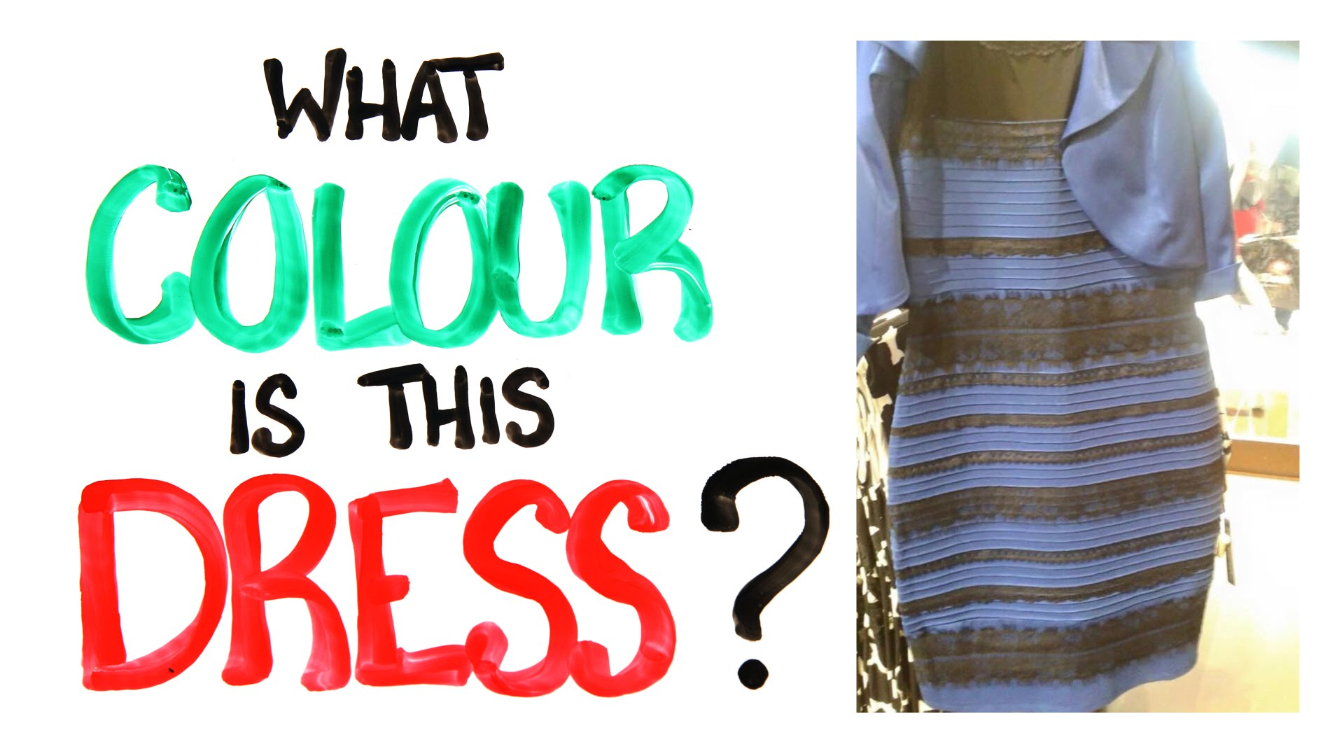 What Colour Is This Dress? – SOLVED with SCIENCE